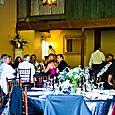 Blue wedding receptiong
