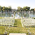 White Ceremony Flowers at La Rivage Hotel in Sacramento