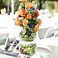 Fruit and Flower Tower Wedding Buffet Arrangement