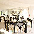 La Rivage Hotel peacock wedding reception