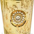 Gold mercury glass votive holder