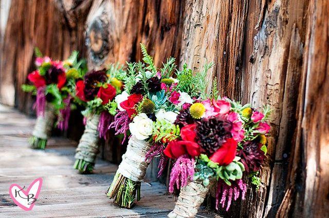 Lake Tahoe bridal flowers