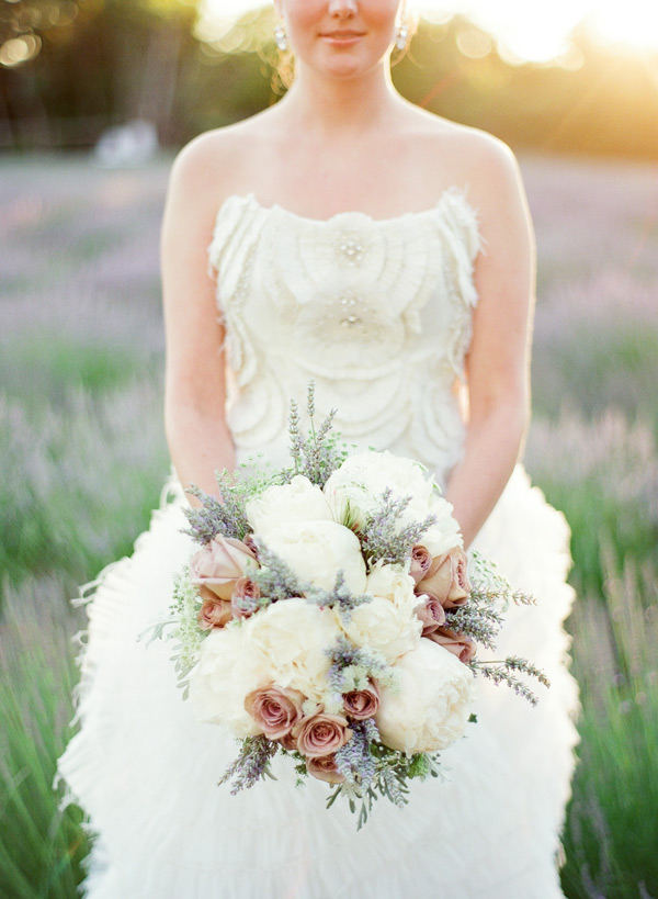Lavender and Peony Bridal bouquet
