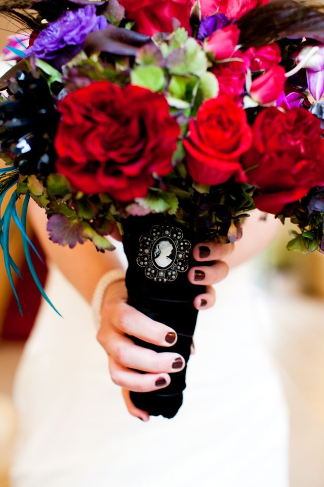 Jewel tone bridal bouquet Napa California