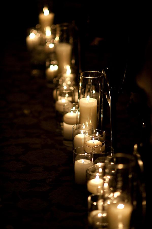 Candle lit aisle