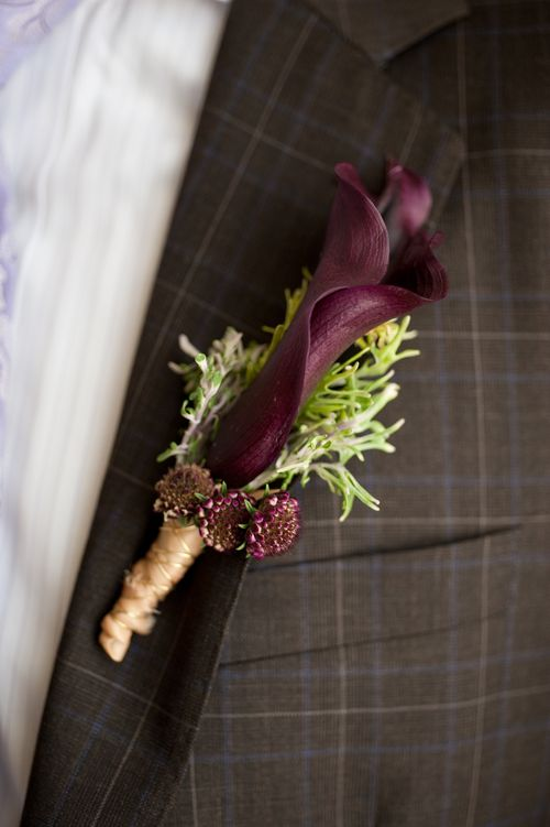 calla lily boutonieer