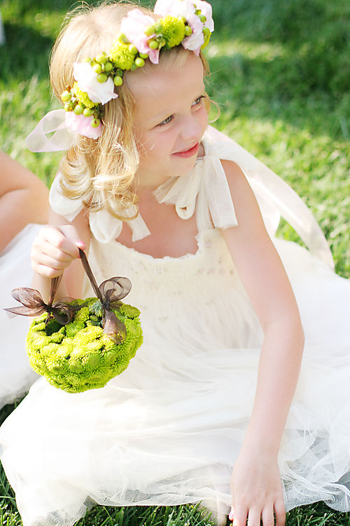 Kermit pom flower girl basket