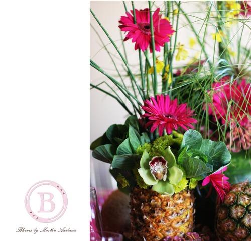 9a Tropical pineapple arrangement.