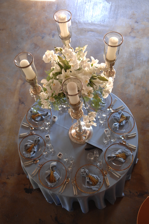 6a Silver candleabra from top
